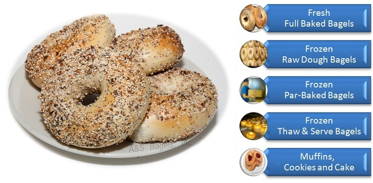 Everything Bagel from A&S Bagels Long Island New York