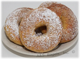 French Toast Bagels, Powdered Sugar
