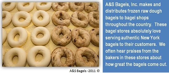 RAW DOUGH BAGELS ORDER SHEET